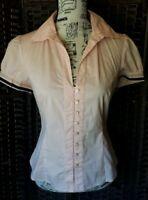Cue women's short sleeve shirt size 10