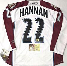 NWT * SCOTT HANNAN COLORADO AVALANCHE AUTO/SIGNED REEBOK NHL HOCKEY JERSEY * COA