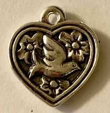 ❤ RETIRED JAMES AVERY ~HEART WITH BIRD CHARM~ STERLING SILVER VERY RARE VINTAGE❤