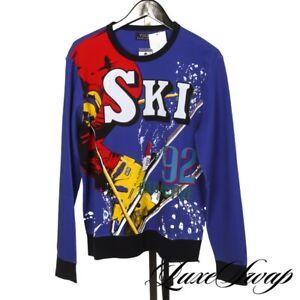 NWT Polo Ralph Lauren Special Edition Ski 1992 92 Royal Blue Crewneck Sweater M