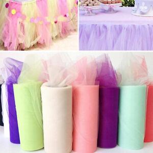 25 Yards Net Tutu Tulle Roll Mesh Fabric Craft Dress Netting Wedding Party Decor
