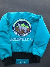 Vintage CB Radio Club Jacket Watsonville California Canal 12 AM GUARDIAS M USA