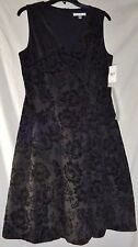 Simply Liliana Dress Black Floral Size 10 NWT $90 Retail
