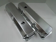 "Ford FE Fabricated Aluminum Tall Valve Covers 1/4"" Billet Rail BBF 352 390 428"