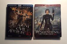 Lot Blu-ray steelbook 3D : RESIDENT EVIL : AFTERLIFE & RETRIBUTION