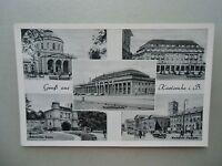 Ansichtskarte Karlsruhe Vierordt Bad Schloßhotel Ausstellungshalle Marktplatz ..