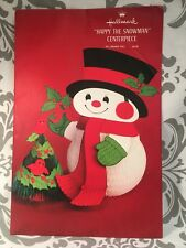 Vtg Vintage Hallmark Christmas Happy the Snowman Centerpiece New Decor HTF #383
