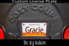 Decals Stickers fits Little Tikes Cozy Coupe License Number Plate Personalized