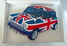 Mini Car Wall Clock, Union Jack Mini Wall Clock, Vintage Mini Clock, Mod Clock