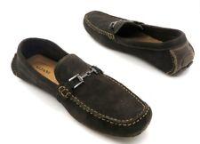 ALFANI Size 12 M Mens Dark Brown Suede Horsebit Slip On Loafers Drivers
