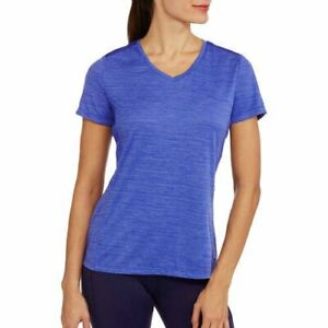 Danskin Performance Semi Fitted V-neck T Shirt w/vented arms & back Sml -XX L
