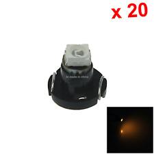 20x Yellow RV T3 Blub NEO Dash Twist Socket HVAC Panel Lamp 1 1210 SMD LED N001