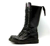 Solovair NPS 20 Eyelet Black DERBY Knee Boots Shoe Size US 6 UK 5 Steel Toe VTG