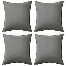 "Set of 4 x IKEA GURLI Grey 50x50cm 100% Cotton Cushion Covers (20""x20"" Approx.)"