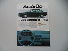 advertising Pubblicità 1984 AUDI 80