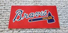 "Vintage 1990s MLB Atlanta Braves 8"" Bumper Sticker Window Decal"