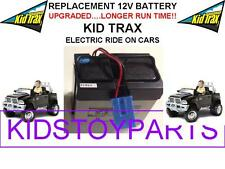 NEW! LONG LASTING DODGE RAM 3500 DUAL CAR KID TRAX 12V OEM BATTERY BLUE W/PLUG