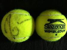 TENNIS: DOMINIKA CIBULKOVA SIGNED SLAZENGER WIMBLEDON TENNIS BALL+COA **PROOF**