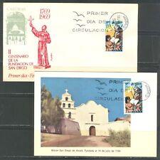 SPAIN 1969, SAN DIEGO BICENTENNIAL, JUNIPERO SERRA, Sc 1578 on FDC AND MAXI CARD