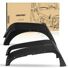OEDRO Textured Front&Rear Steel Fender Flares for 2007-2018  Jeep Wrangler JK