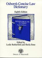 Osborn's Concise Law Dictionary By Rutherford. 9780421389007