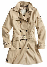 Surplus DamenTrenchcoat 100 % Baumwolle wasserdicht Gr.EU38 UK10 US6 beige neu