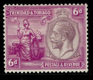 TRINIDAD & TOBAGO GV SG225, 6d dull purple & bright magenta, M MINT.