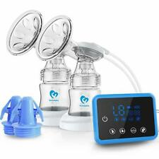 Dual Suction Electric Breastfeeding Pump Massage w/ Full Touchscreen LED Display