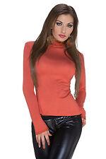 mujer camisa camiseta top manga larga Party Oficina Disco S 34 36