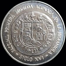 1975 Dominican Republic 10 Pesos KM #38 Foreign Silver Coin Bankers Conference
