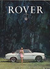 1968 Rover car brochure: Rover 3.5 litre (P5B) & 2000 (P6)