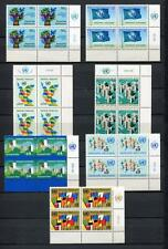 19311A) UNITED NATIONS (Vienna) 1980 MNH** Definitive Block + lab