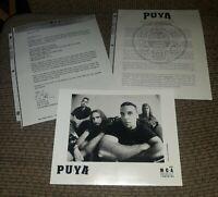 Puya MCA Original Press release kit w 8x10 Photo RADIO STATION PROMO 1998