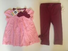 First Impressions brand 2pc pink color Tunic ( Top ) / leggings set for 12 M