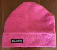 Columbia Fleece Hat Pink Youth Size Small/medium EUC
