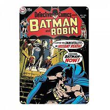 BATMAN E ROBIN GRANDE CARTELLO IN METALLO 400mm x 300mm (hb)