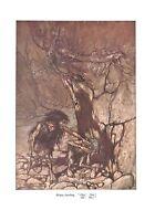 Mime.Arthur Rackham.1939.Wagner print.Opera print.Antique print.Ar.tOpera