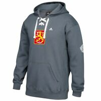 Finland World Cup of Hockey NHL Charcoal Grey Primary Lace-Up Pullover Hoodie