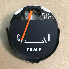 1965 Gt 1966 & Other Ford Mustang Black Faced Temperature Gauge C5Zf- Oem Tested
