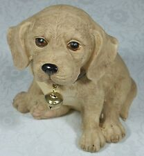 Puppy Figurine w Bell Labrador 9319844338684 DOGPUP8 Poly Resin NEW in Box