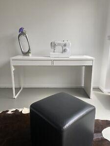 IKEA MICKE Schreibtisch in weiß, (142x50cm) Bürotisch Computertisch