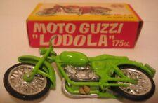 Antique Metal Toy Motorcycle Moto Guzzi Lodola Mignon Model Torino Italy - Boxed