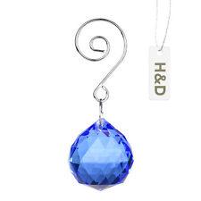 1PCS Lake Blue Crystal Ball Chandelier Prisms Lamp Hanging Drop Pendant 30mm