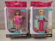 NEW miWorld Mini Stores Build A Mall Set 2 Shop Girl Blonde Brunette Dolls