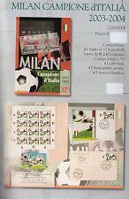 folder postale milan campione d italia duemilatre-2004