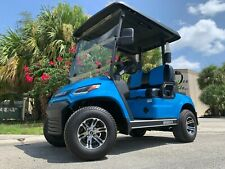 New listing  ADVANCED EV ADVENT BLUE 2 PASSENGER GOLF CART FAST LUXURY 24 MPH CAR FAST AC