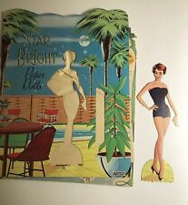 Vintage Star Bright Paper Dolls 1960 Saalfield L.A. Women Poolside Fashion Used