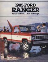 1985 Ford Ranger Truck 20-page Original Sales Brochure Catalog