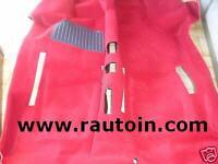 FIAT 600 TAPPETO PREFORMATO DAL 1960-> ROSSA Interior Moulded Carpet Red
