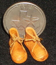 Miniature Southwest Native American Indian Moccasins 1:12 Prestige Leather Plain